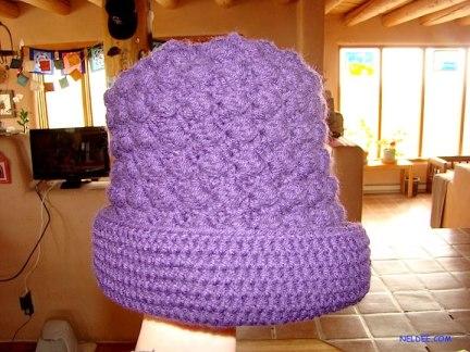 Purple child's hat  $15