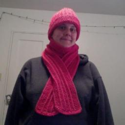 Matching Pink hat and scarf
