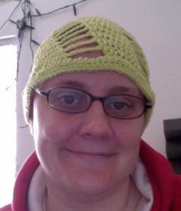 Open Lime Green Swirl Hat