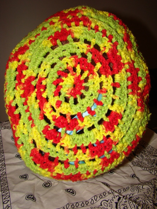 Red, Yellow, Green Cotton Baggie Beret