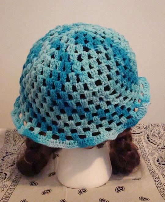 Back of Blue Sun Hat