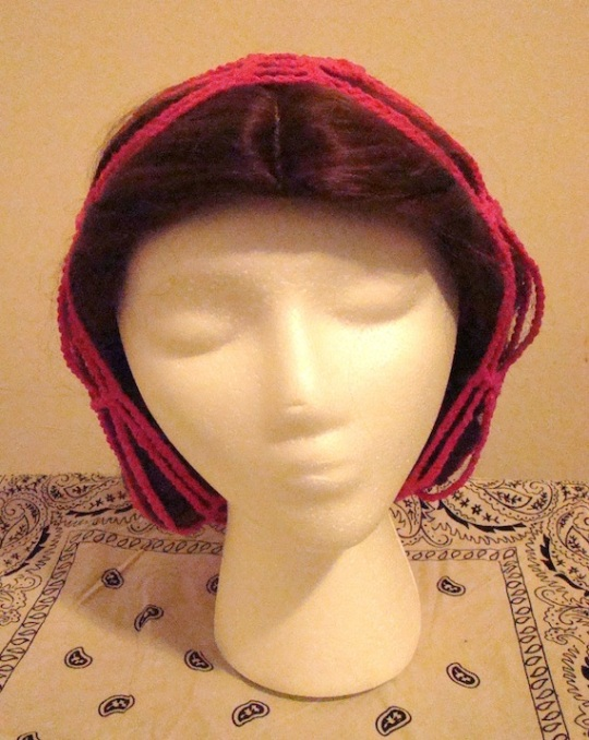 front of pink breast cancer awareness baggie beanie
