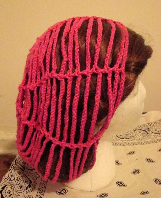 side of Breast Cancer Awareness Baggie Beanie