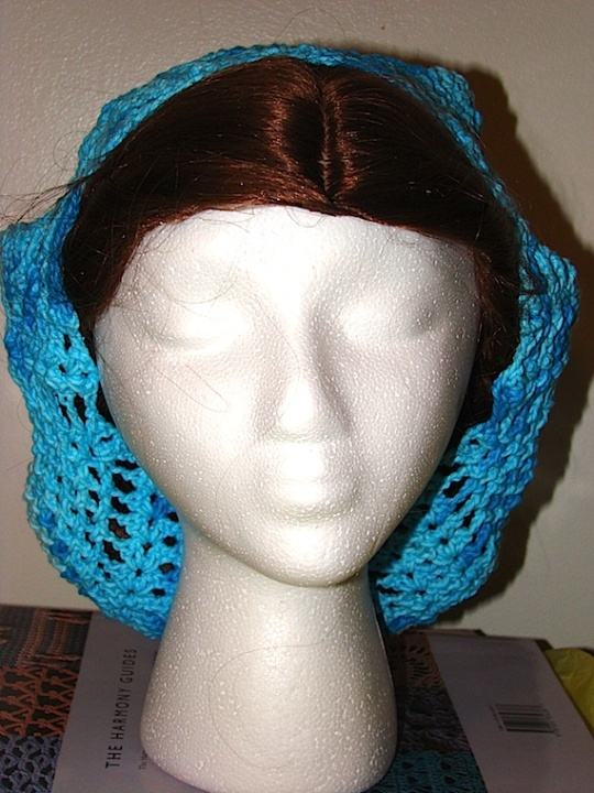 front view of blue pineapple baggie beanie