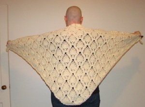 Natural Color Pineapple Shawl