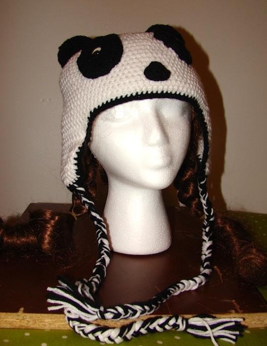 Panda Hat front view