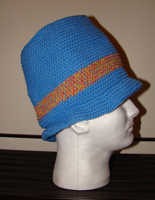 Side View of Crochet Top Hat