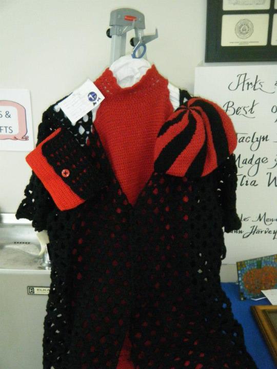 display of crochet formal