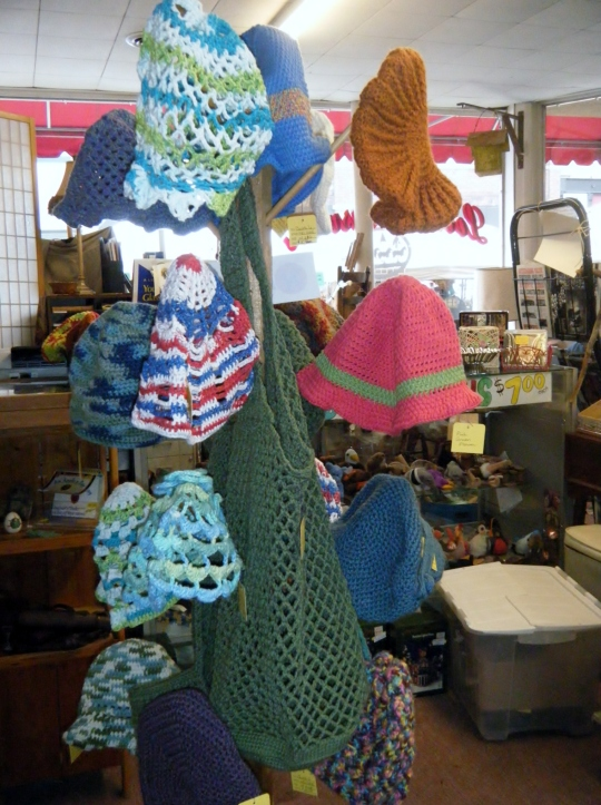 Neldee items hanging on a rack at Loose treasures
