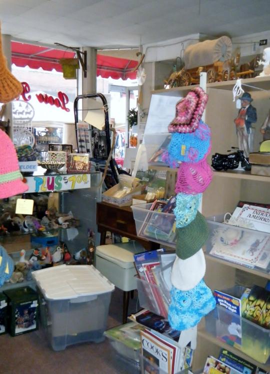 Neldee items on display at Loose Treasures