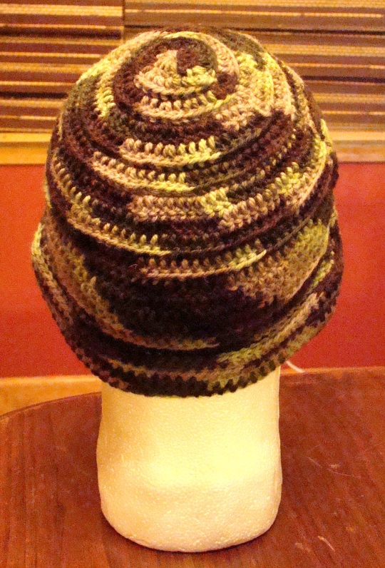 Back view of Camo Stocking Hat