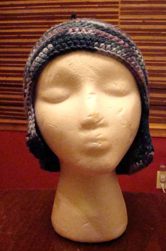Front view of ear flap beanie