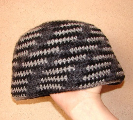 Gray and Black Beanie
