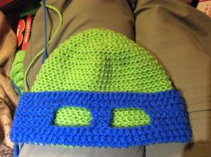 Blue Ninja Turtle Hat